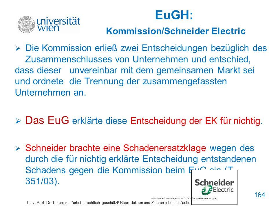 EuGH: Kommission/Schneider Electric