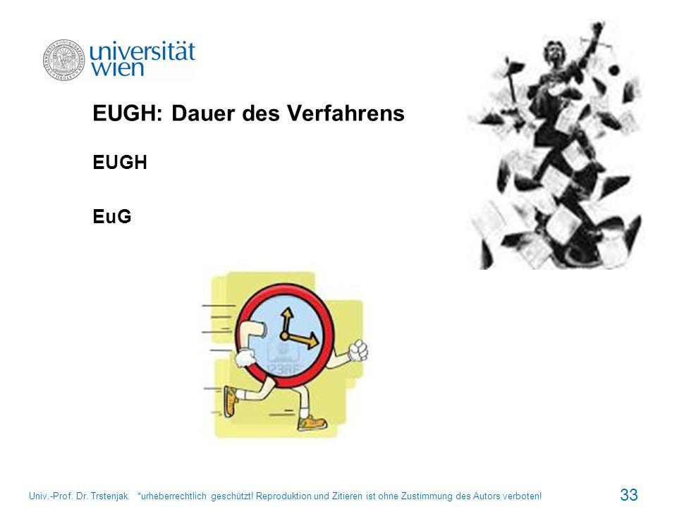 EUGH: Dauer des Verfahrens
