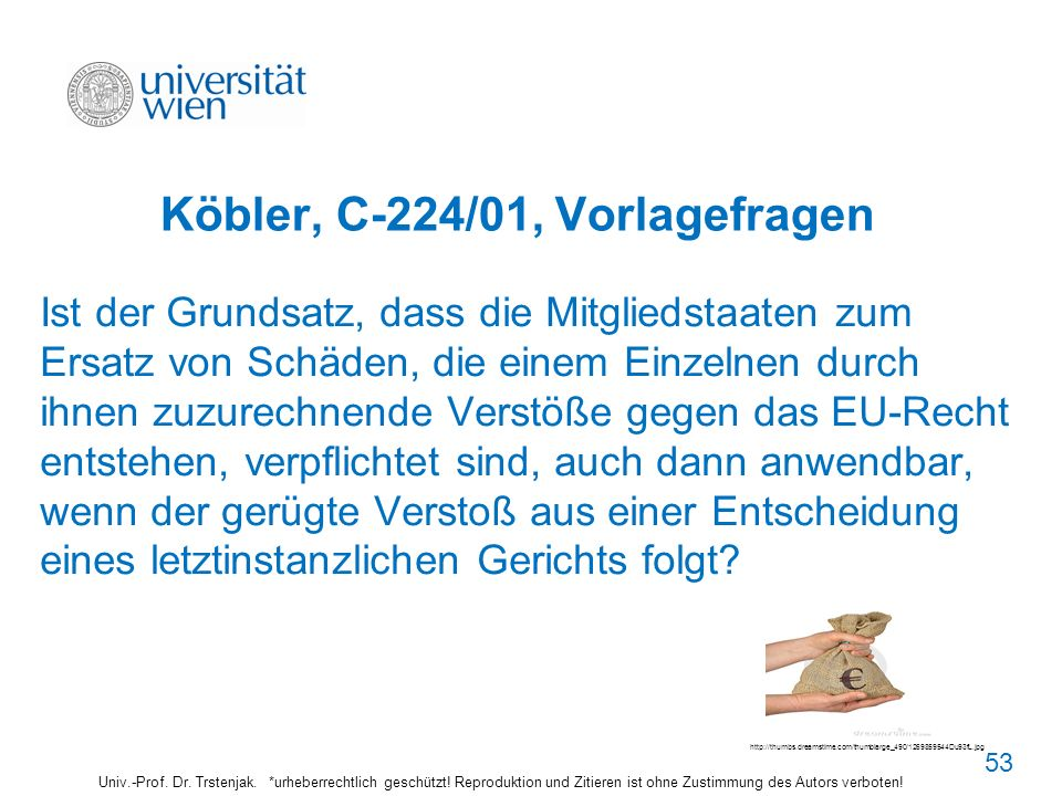Köbler, C-224/01, Vorlagefragen