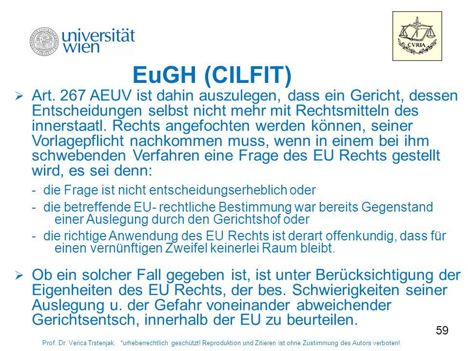 5959 EuGH (CILFIT)