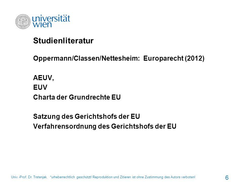 Studienliteratur