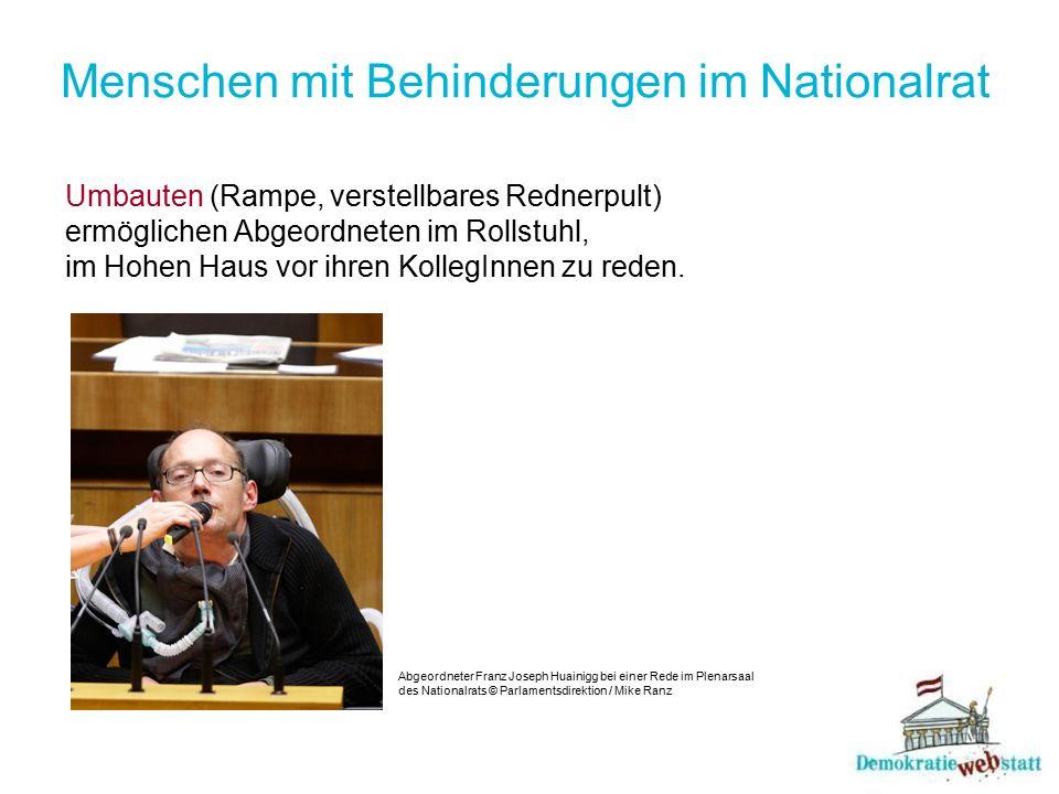 Menschen mit Behinderungen im Nationalrat