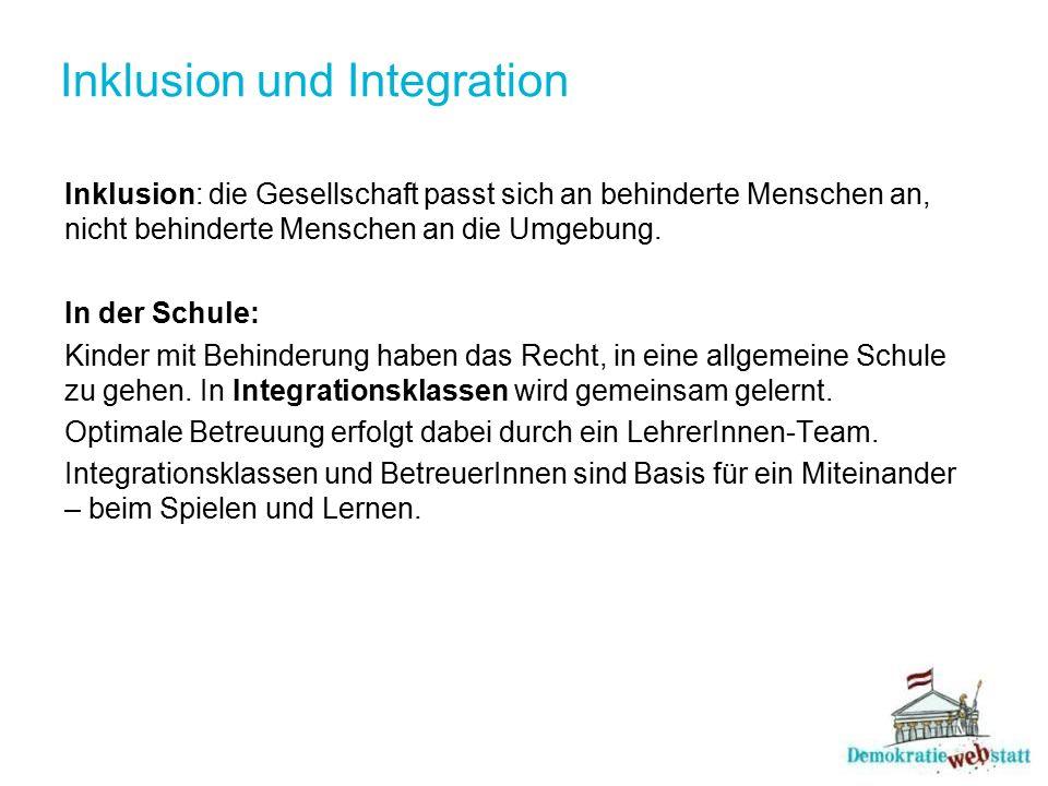 Inklusion und Integration