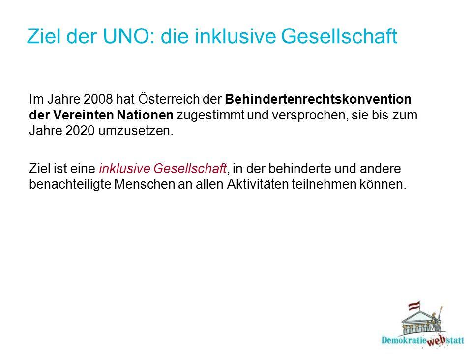 Ziel der UNO: die inklusive Gesellschaft