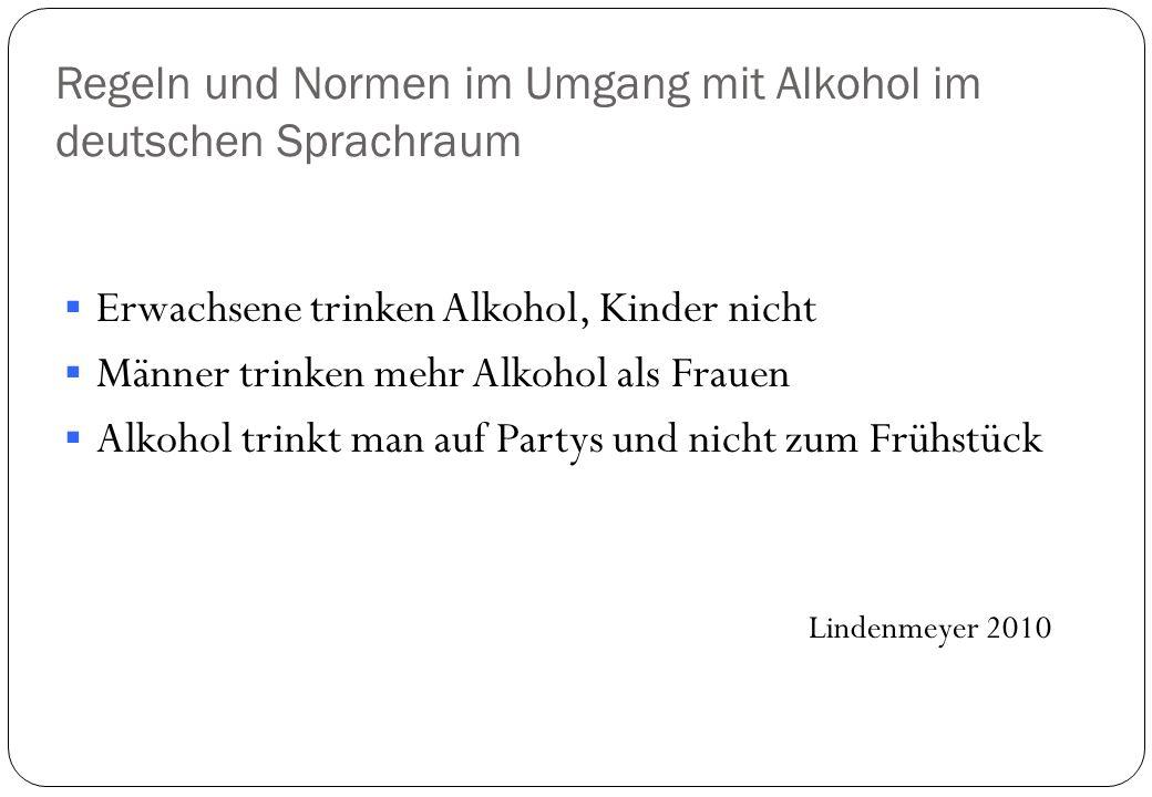 Regeln und Normen im Umgang mit Alkohol im deutschen Sprachraum