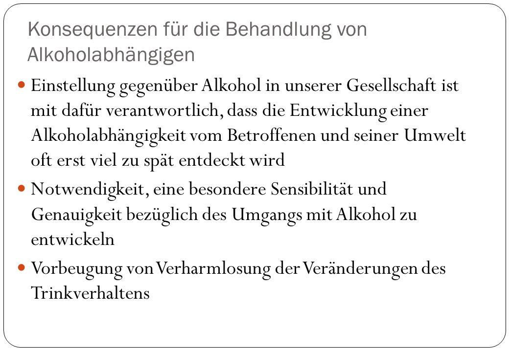 Konsequenzen für die Behandlung von Alkoholabhängigen
