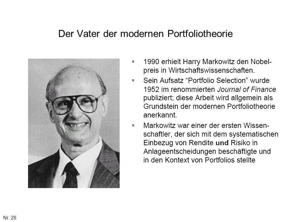 Der Vater der modernen Portfoliotheorie