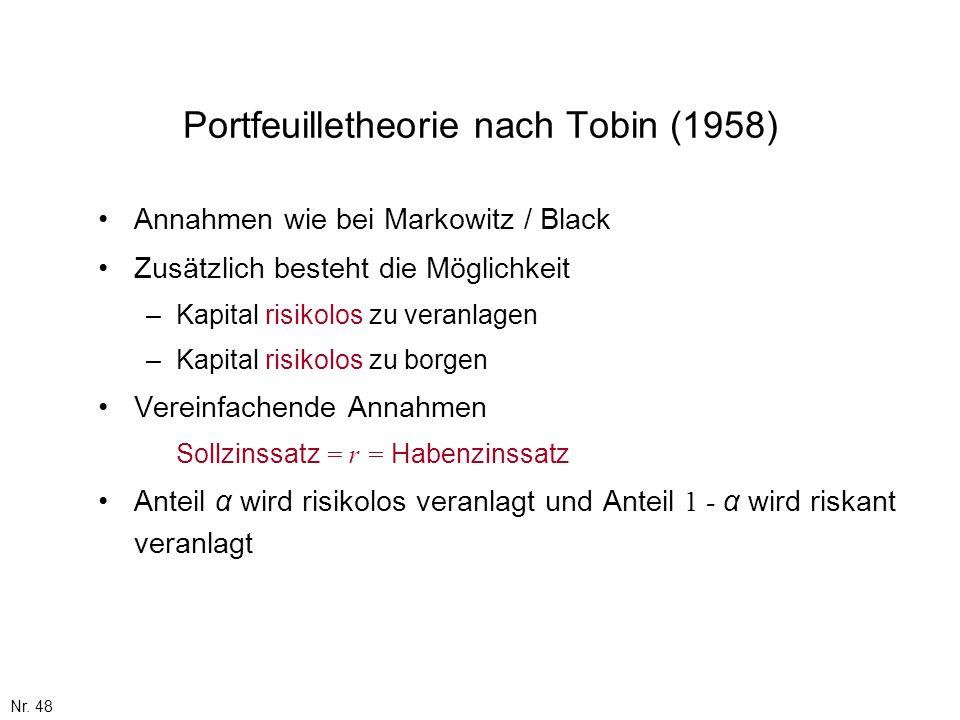 Portfeuilletheorie nach Tobin (1958)