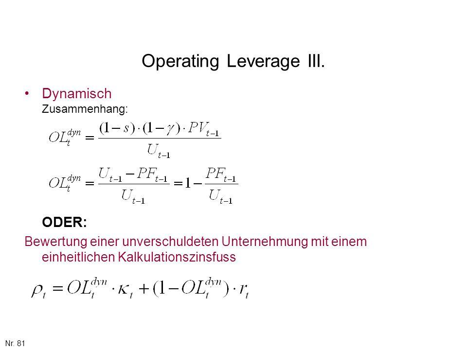 Operating Leverage III.