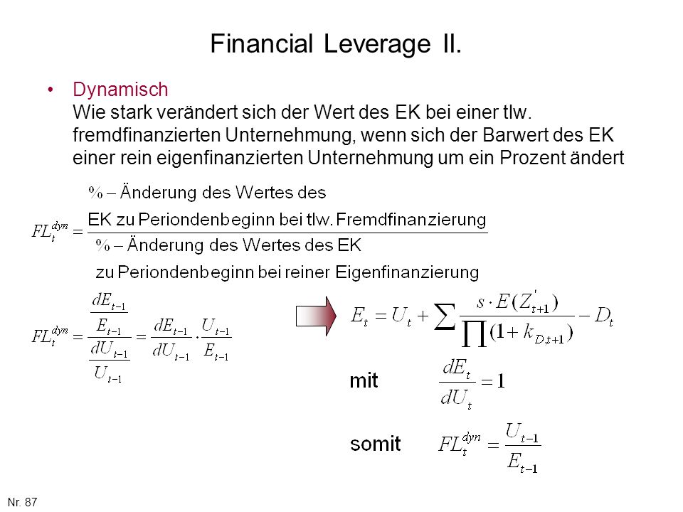 Financial Leverage II.