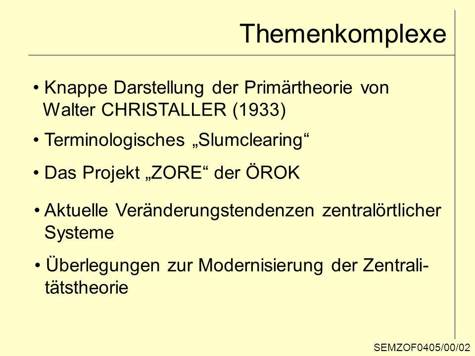 Themenkomplexe Knappe Darstellung der Primärtheorie von