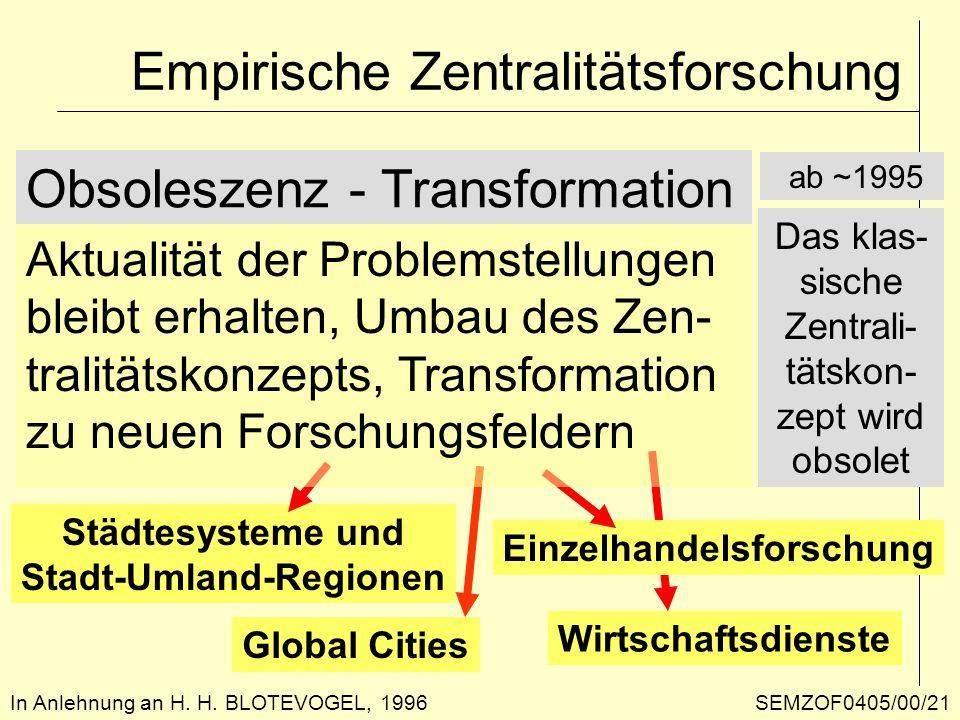 Empirische Zentralitätsforschung