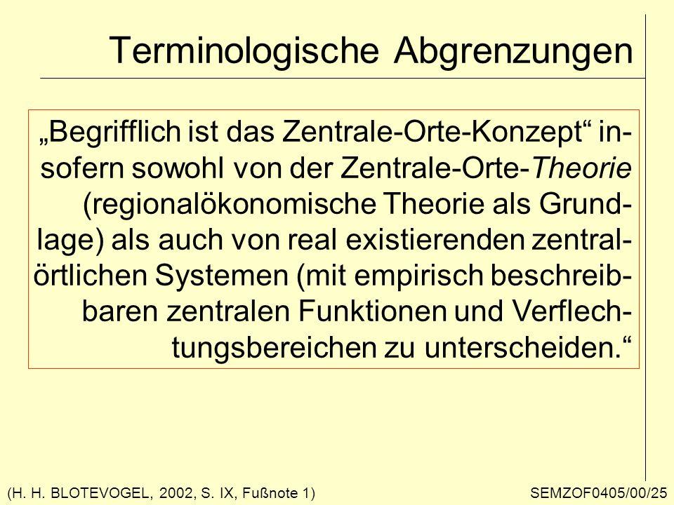 Terminologische Abgrenzungen
