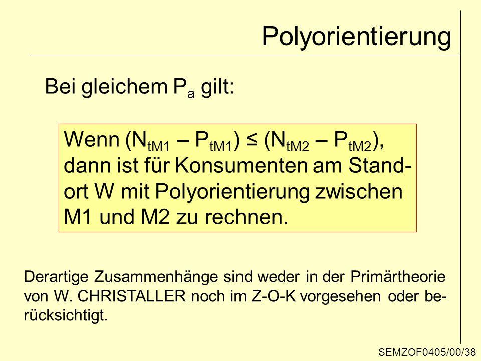 Polyorientierung Bei gleichem Pa gilt: