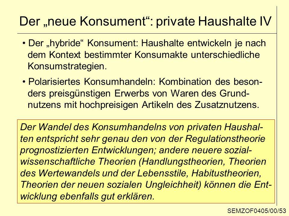 "Der ""neue Konsument : private Haushalte IV"