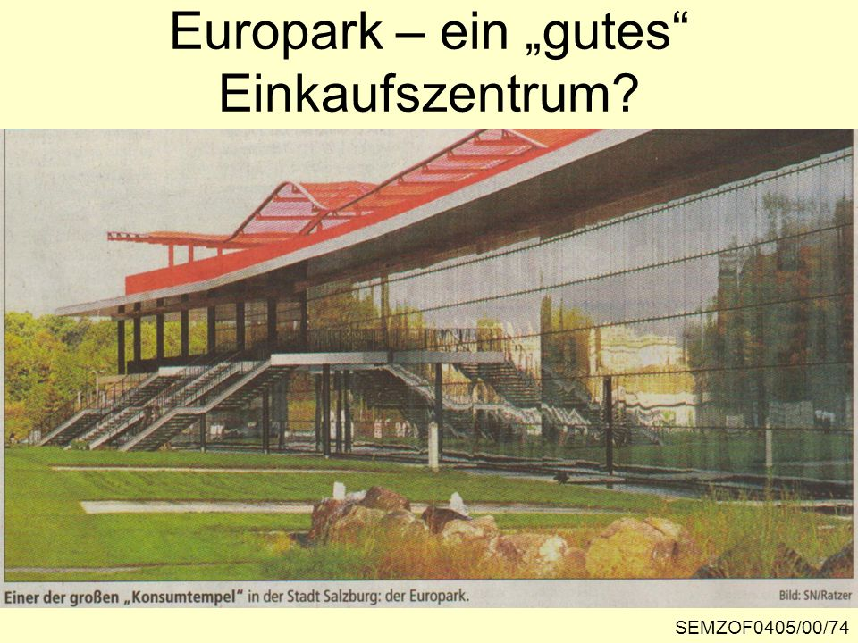 """Europark – ein """"gutes Einkaufszentrum"""