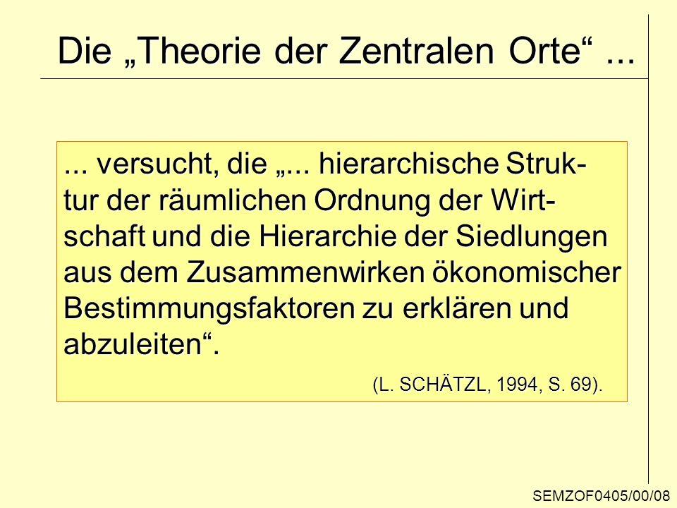 """Die """"Theorie der Zentralen Orte ..."""