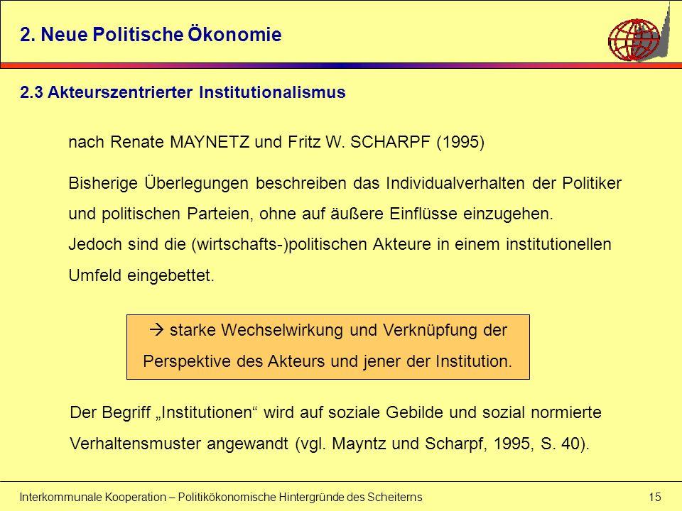 2. Neue Politische Ökonomie