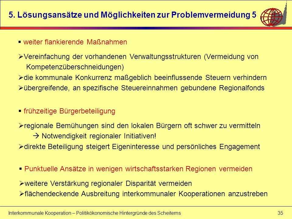 5. Lösungsansätze und Möglichkeiten zur Problemvermeidung 5
