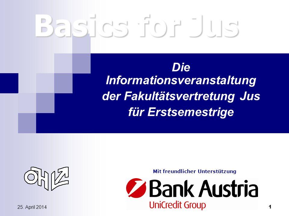 Die Informationsveranstaltung der Fakultätsvertretung Jus