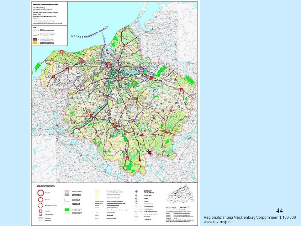 Regionalplanung Mecklenburg Vorpommern 1:100 000