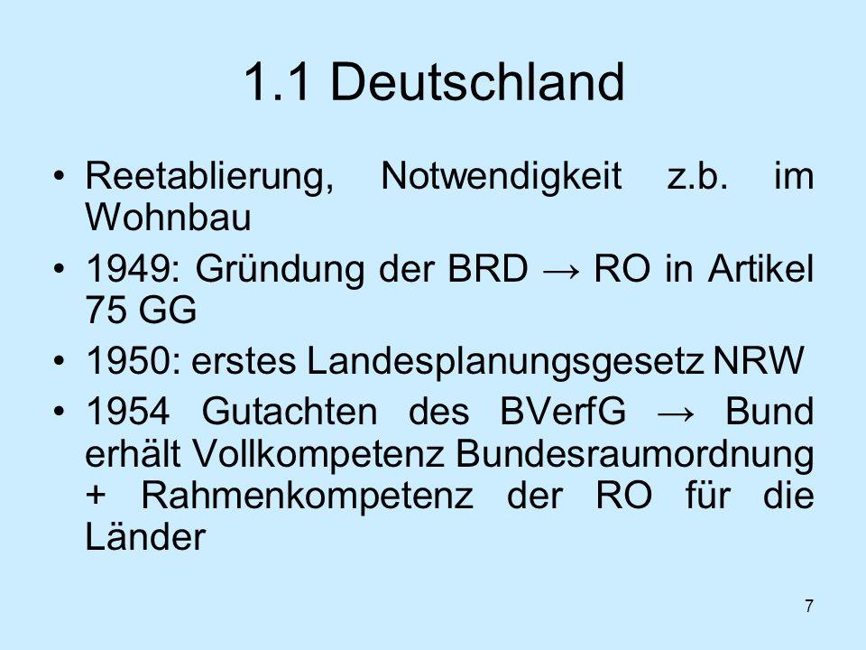 1.1 Deutschland Reetablierung, Notwendigkeit z.b. im Wohnbau