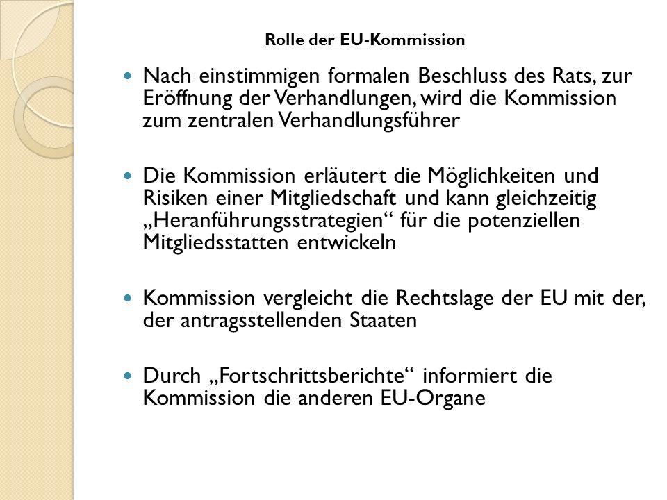 Rolle der EU-Kommission