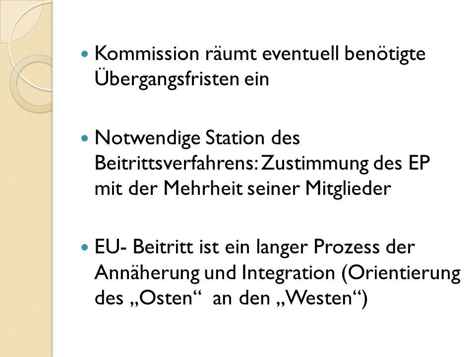 Kommission räumt eventuell benötigte Übergangsfristen ein