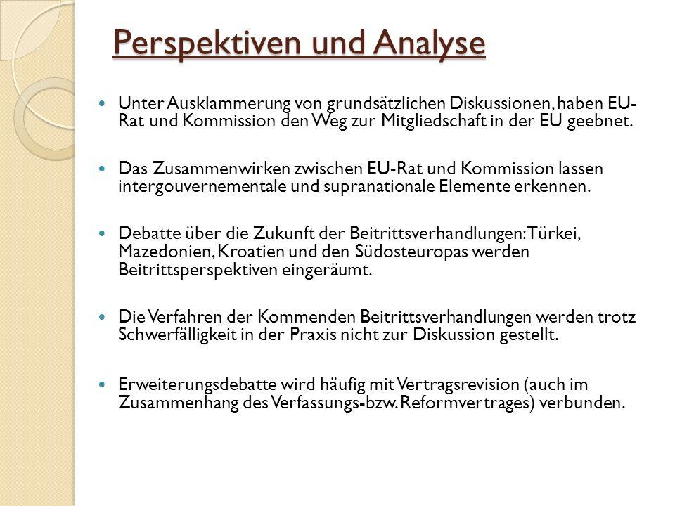 Perspektiven und Analyse