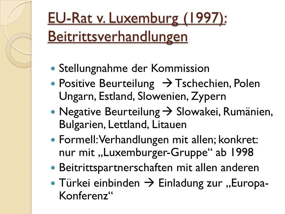 EU-Rat v. Luxemburg (1997): Beitrittsverhandlungen
