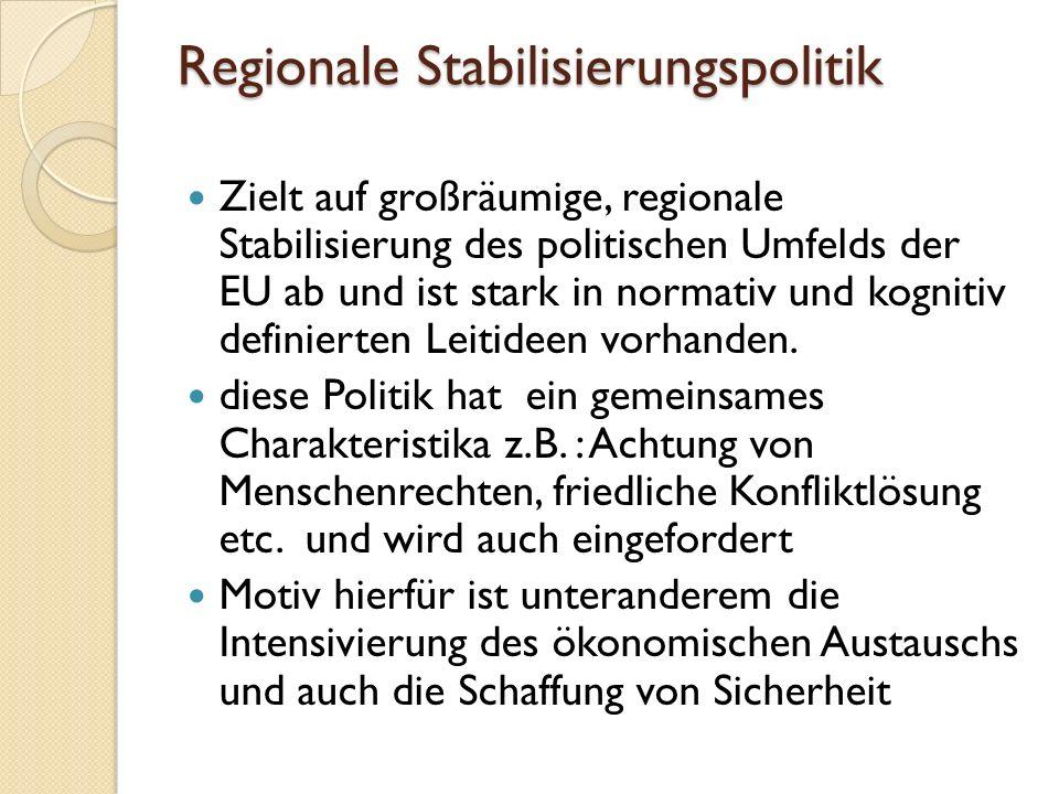 Regionale Stabilisierungspolitik