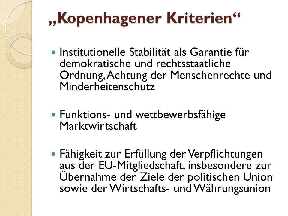 """""""Kopenhagener Kriterien"""