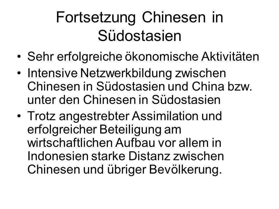 Fortsetzung Chinesen in Südostasien