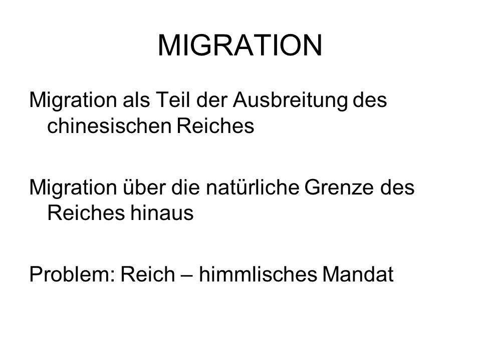 MIGRATION Migration als Teil der Ausbreitung des chinesischen Reiches