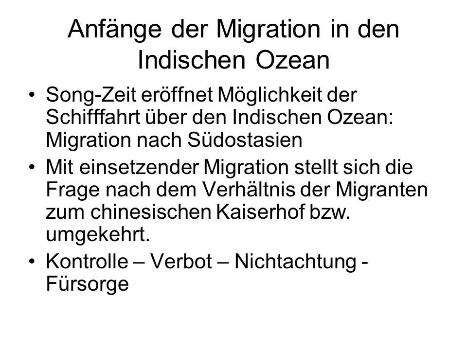 Anfänge der Migration in den Indischen Ozean