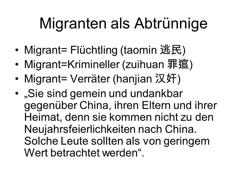 Migranten als Abtrünnige