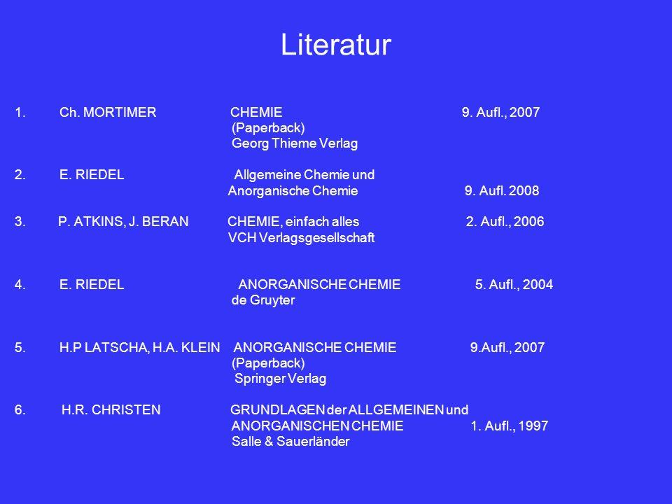 Literatur Ch. MORTIMER CHEMIE 9. Aufl., 2007 (Paperback)