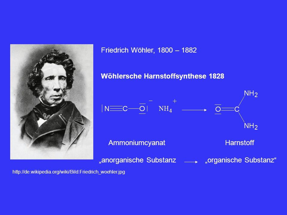 Wöhlersche Harnstoffsynthese 1828