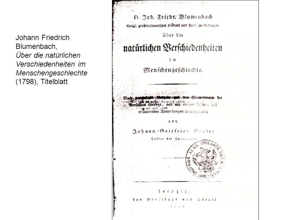 Johann Friedrich Blumenbach, Über die natürlichen.