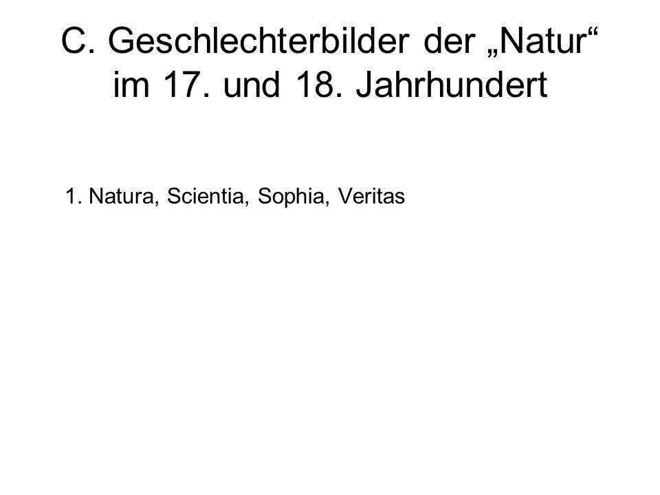 """C. Geschlechterbilder der """"Natur im 17. und 18. Jahrhundert"""
