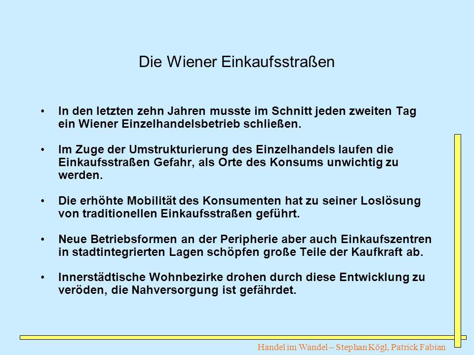 Die Wiener Einkaufsstraßen