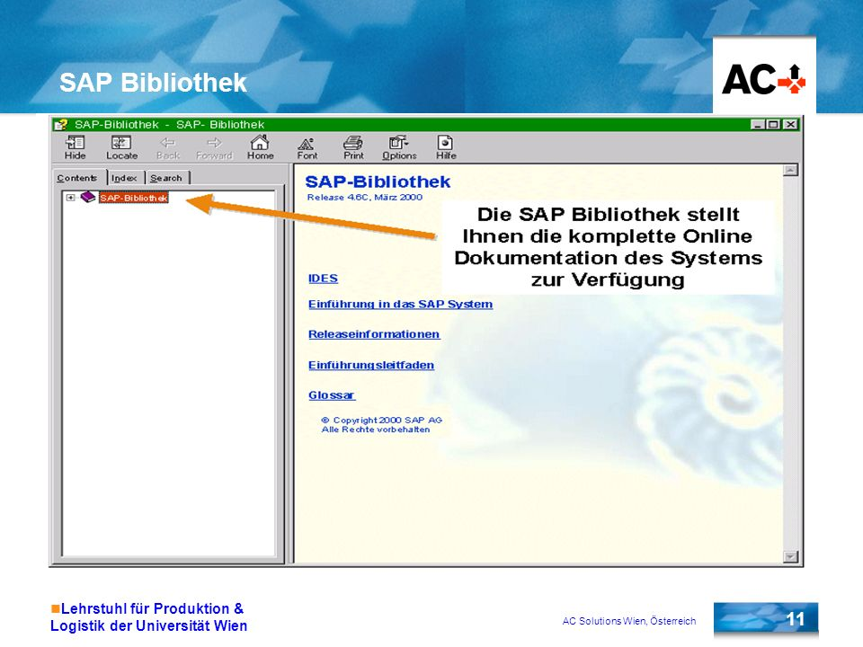SAP Bibliothek