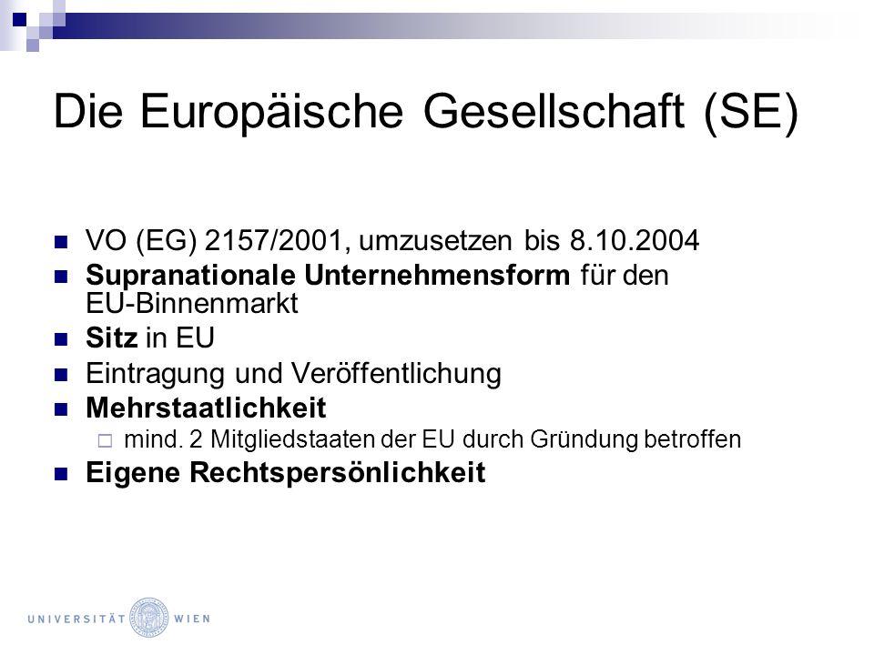 Die Europäische Gesellschaft (SE)