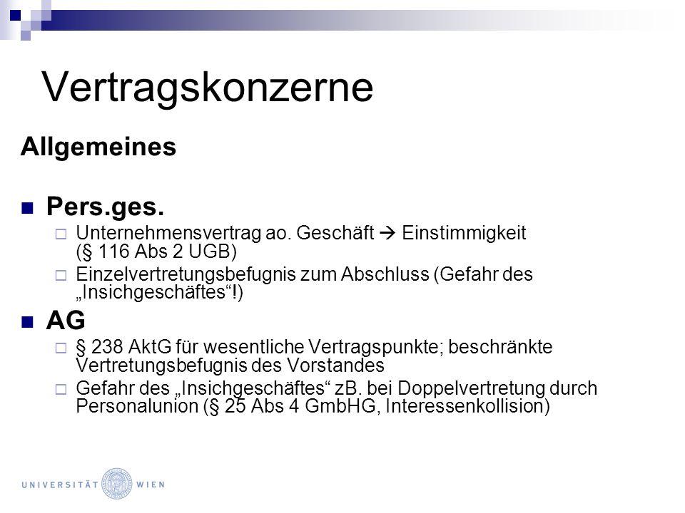 Vertragskonzerne Allgemeines Pers.ges. AG