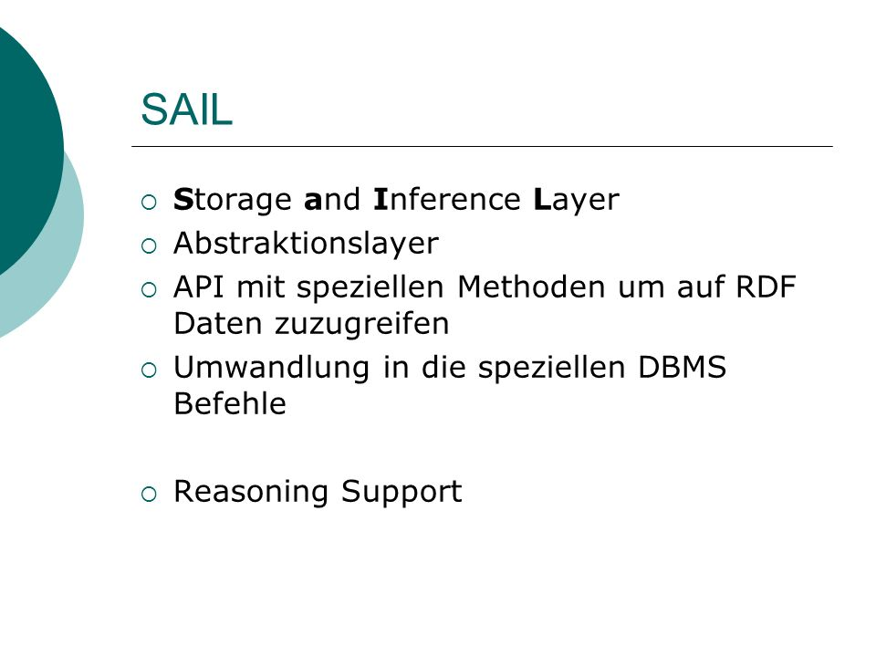 SAIL Storage and Inference Layer Abstraktionslayer