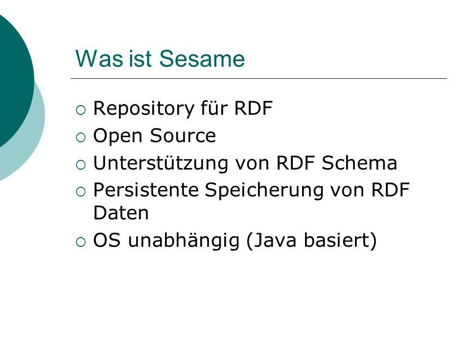 Was ist Sesame Repository für RDF Open Source