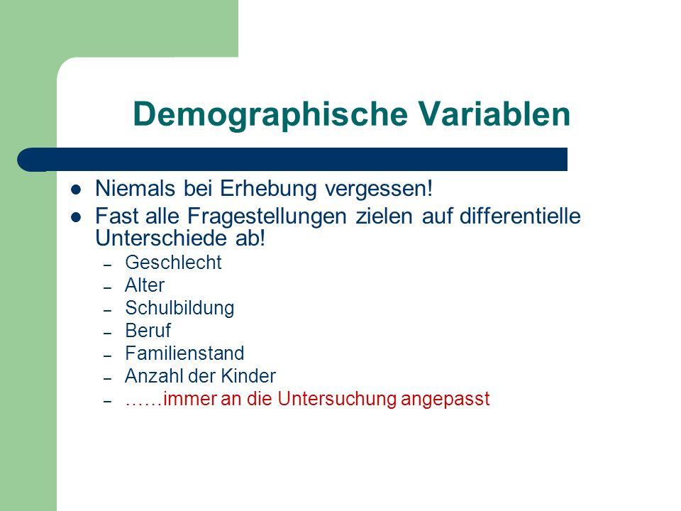 Demographische Variablen