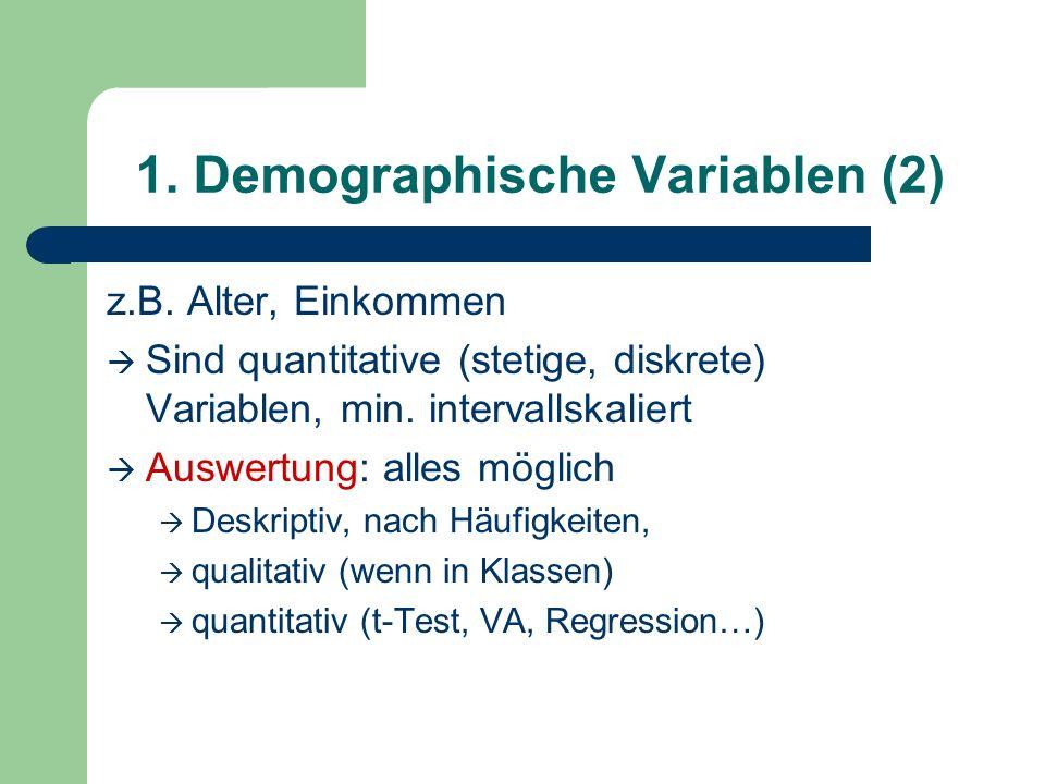 1. Demographische Variablen (2)