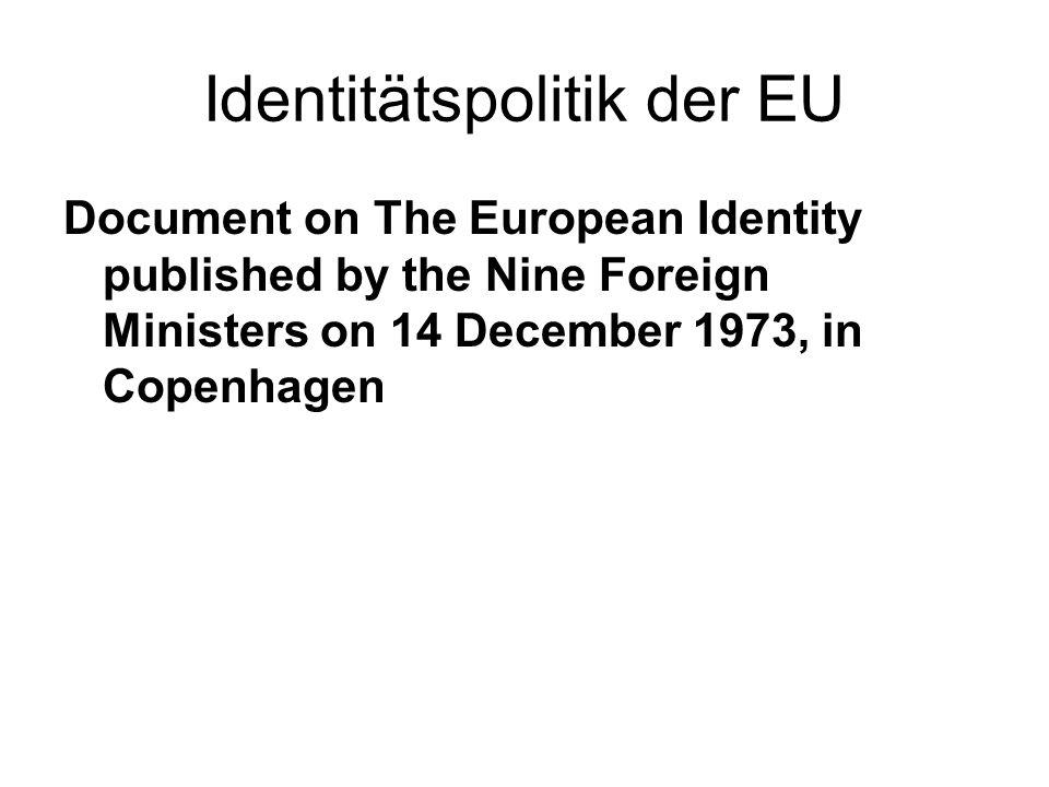 Identitätspolitik der EU