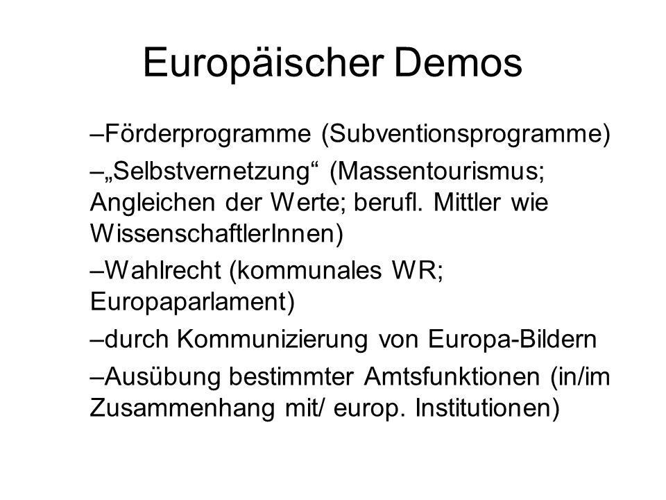 Europäischer Demos Förderprogramme (Subventionsprogramme)